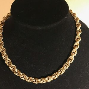 "18"" vintage costume gold chain."